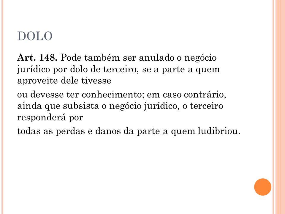 DOLO Art.148.
