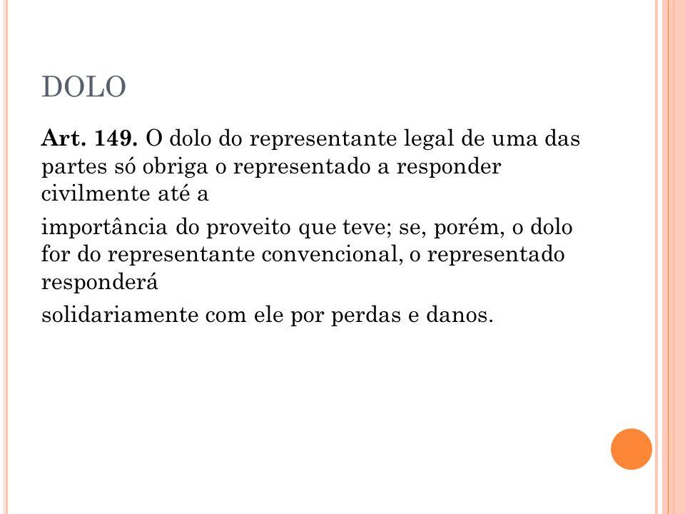 DOLO Art.149.
