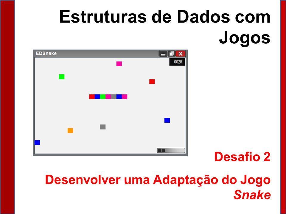 Estruturas de Dados com Jogos Desafio 2 Desenvolver uma Adaptação do Jogo Snake