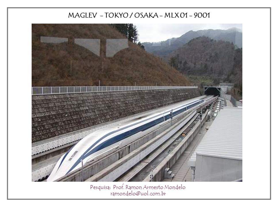MAGLEV - TOKYO / OSAKA - MLX 01 - 9001 Pesquisa: Prof. Ramon Armesto Mondelo ramondelo@uol.com.br