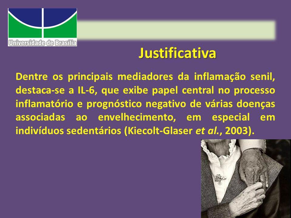 Justificativa Dentre os principais mediadores da inflamação senil, destaca-se a IL-6, que exibe papel central no processo inflamatório e prognóstico n