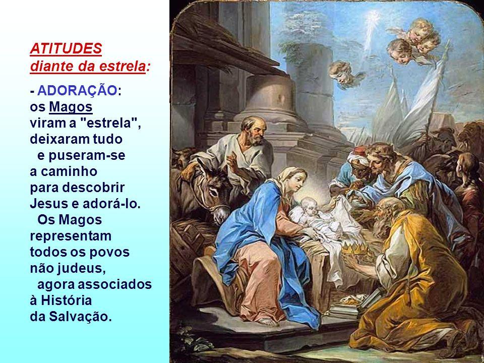 - Os MAGOS representam os povos estrangeiros, que vão ao encontro de Jesus e se deixam guiar pela sua mensagem de paz e de amor. São imagem da Igreja,