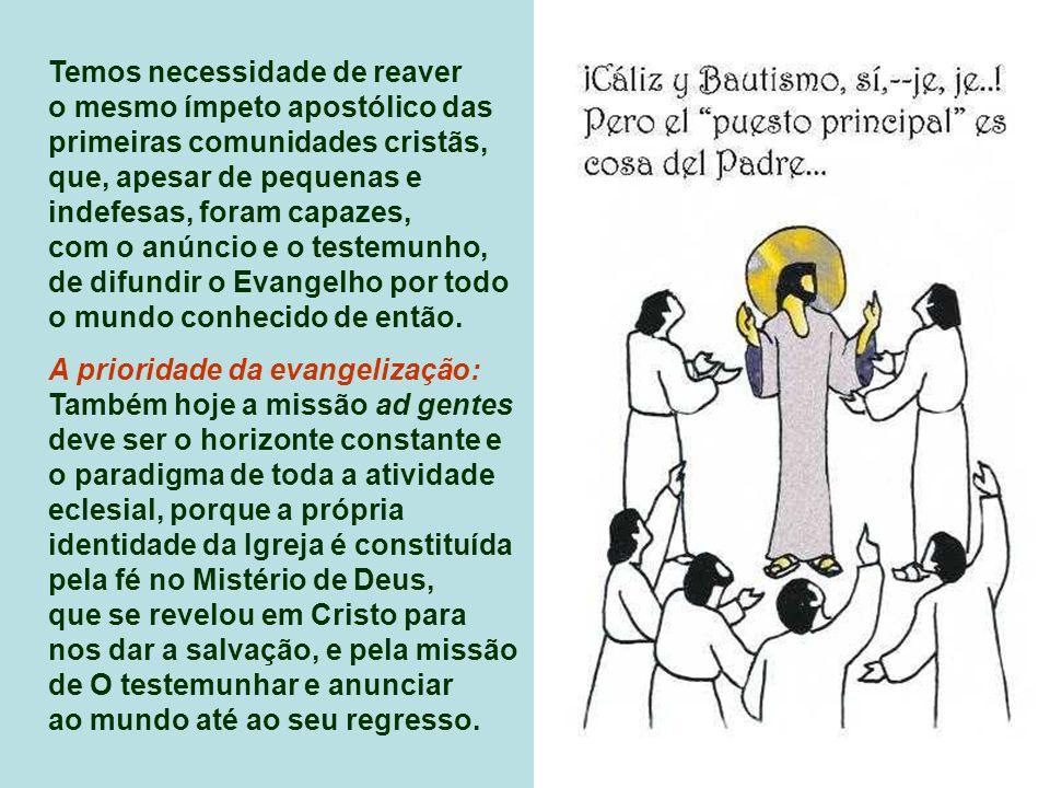 Eclesiologia missionária: «Os homens, à espera de Cristo, constituem ainda um número imenso»... «Não podemos ficar tranqüilos, ao pensar nos milhões d