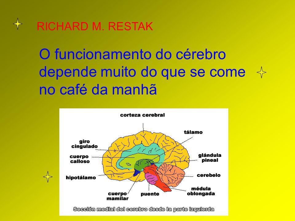 RICHARD M. RESTAK O funcionamento do cérebro depende muito do que se come no café da manhã
