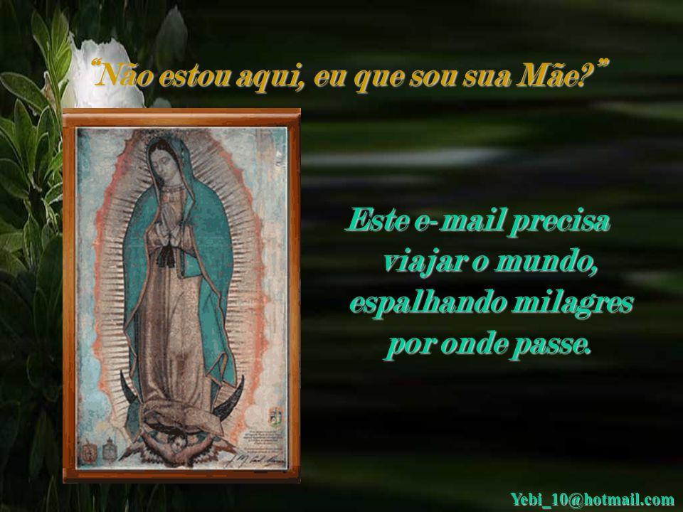Não estou aqui, eu que sou sua Mãe? Caros amigos, antes de mais nada quero dizer que a Virgem de Guadalupe é milagrosa e está sempre conosco em qualqu