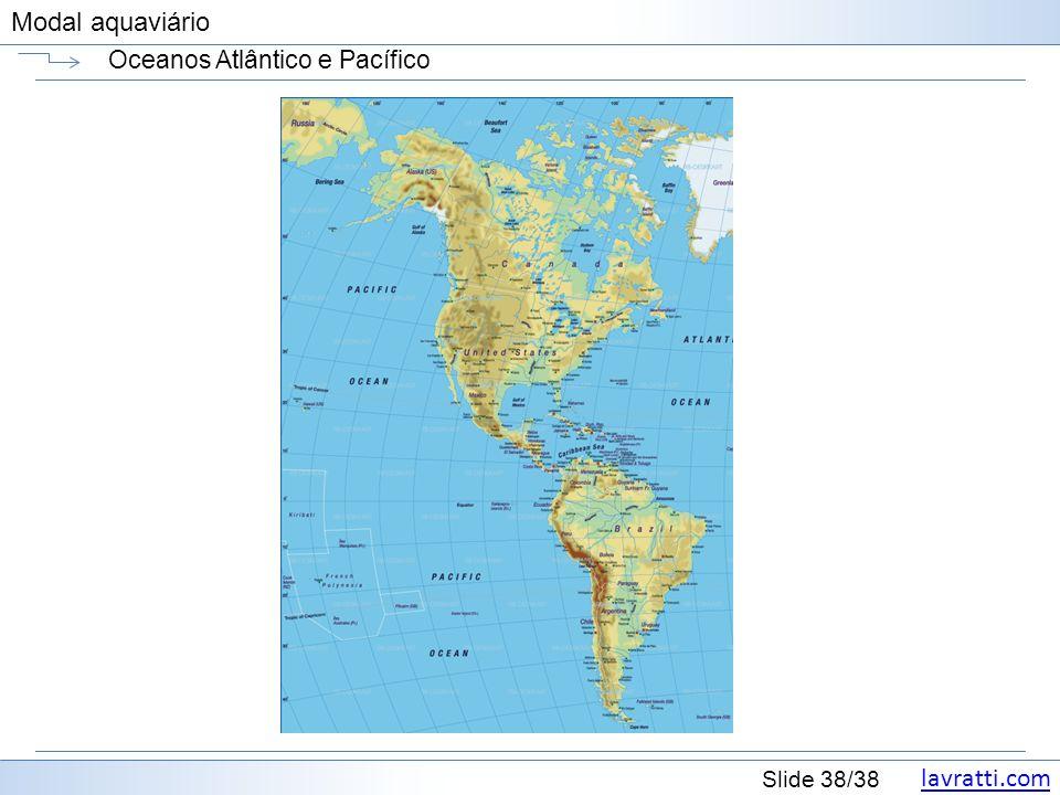 lavratti.com Slide 38/38 Modal aquaviário Oceanos Atlântico e Pacífico