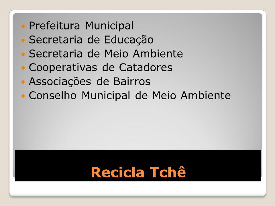 Recicla Tchê Prefeitura Municipal Secretaria de Educação Secretaria de Meio Ambiente Cooperativas de Catadores Associações de Bairros Conselho Municip