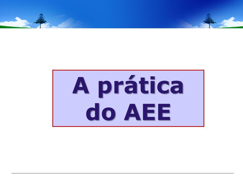 A prática do AEE