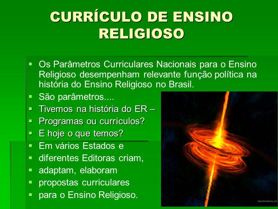 Os Parâmetros Curriculares Nacionais para o Ensino Religioso desempenham relevante função política na história do Ensino Religioso no Brasil. São parâ