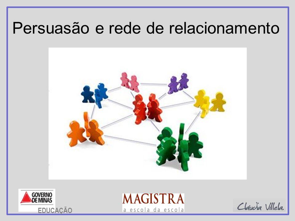 Persuasão e rede de relacionamento EDUCAÇÃO