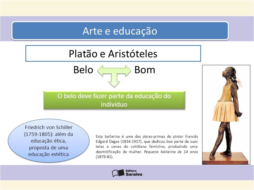 Arte e educação Esta bailarina é uma das obras-primas do pintor francês Edgard Degas (1834-1917), que dedicou boa parte de suas telas a cenas do cotid