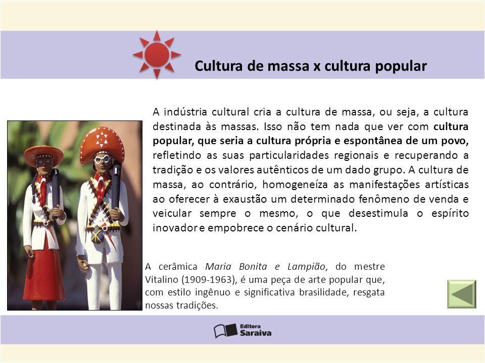 A cerâmica Maria Bonita e Lampião, do mestre Vitalino (1909-1963), é uma peça de arte popular que, com estilo ingênuo e significativa brasilidade, res