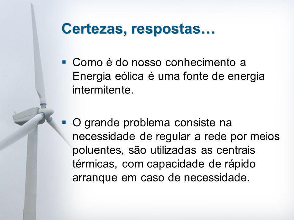 Como é do nosso conhecimento a Energia eólica é uma fonte de energia intermitente.