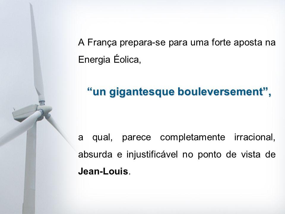A França prepara-se para uma forte aposta na Energia Éolica, a qual, parece completamente irracional, absurda e injustificável no ponto de vista de Jean-Louis.