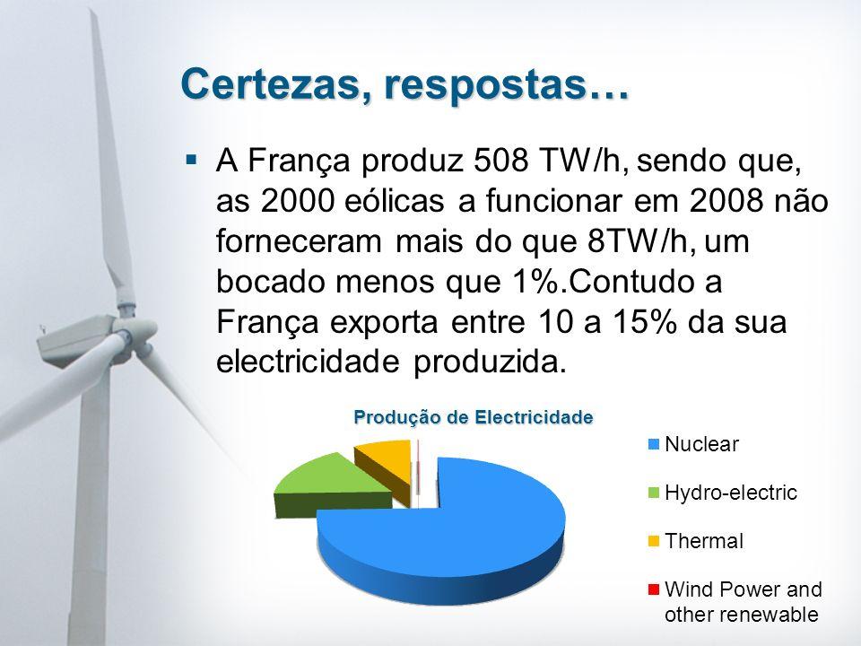 A comissão de regulação de electricidade num documento de 27 Julho de 2006 indica que o custo da electricidade nuclear era de 2,84 cêntimos por kW/h em comparação com a electricidade eólica que era de 8,2 euros por kW/h.