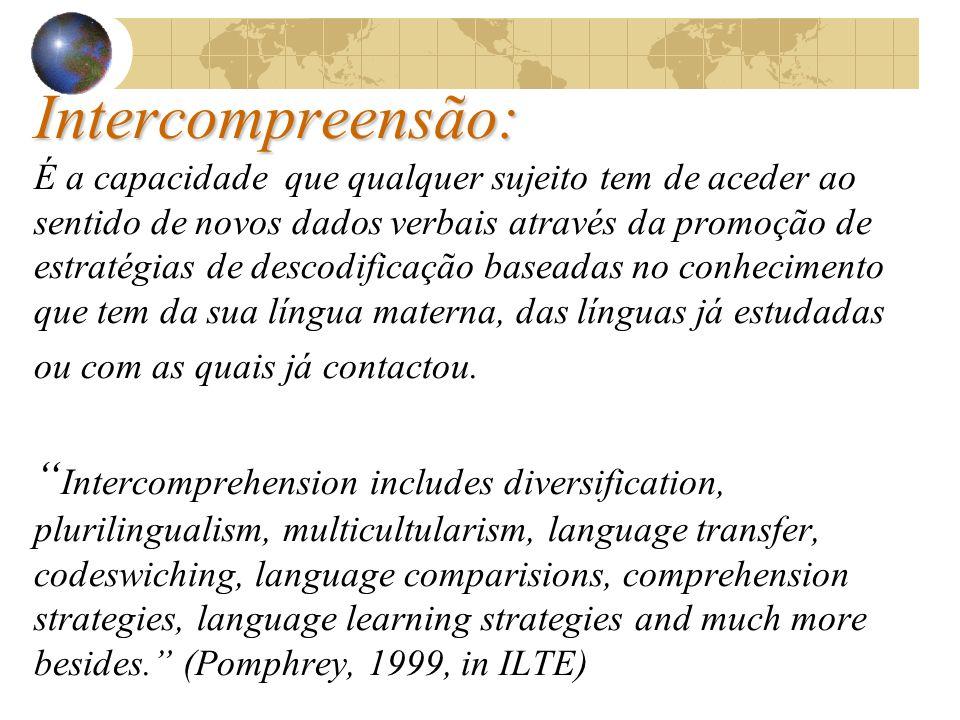 Conhecer a Língua, Conhecer Novos Mundos... O Mundo Romanófono!!! A Intercompreensão na sensibilização às Línguas Românicas ! Projecto no âmbito do Se