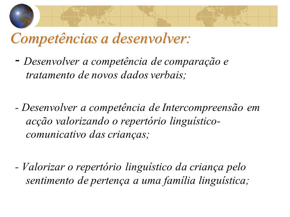 A Intercompreensão e a Competência Plurilingue: A A Intercompreensão e a Competência Plurilingue: A Intercompreensão assume-se como uma competência fu