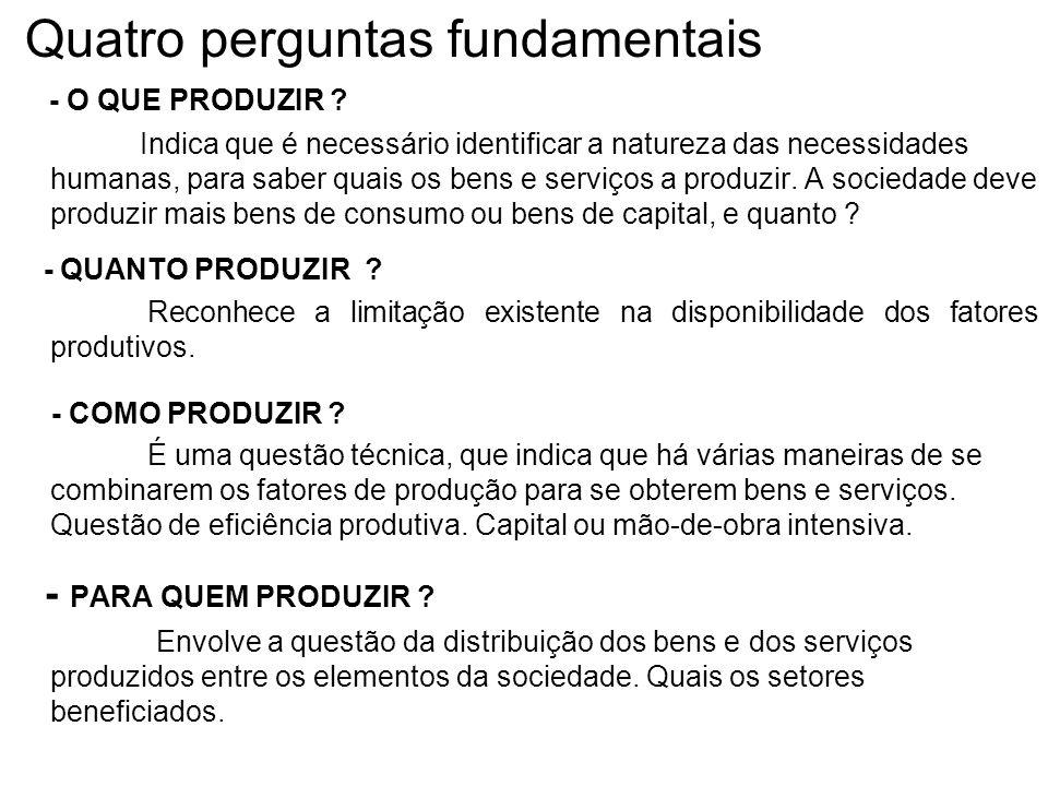 Problemas econômicos fundamentais Necessidades Humanas > Ilimitadas ou Infinitas.