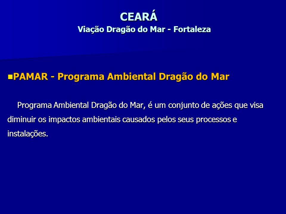 CEARÁ Viação Dragão do Mar - Fortaleza PAMAR - Programa Ambiental Dragão do Mar PAMAR - Programa Ambiental Dragão do Mar Programa Ambiental Dragão do