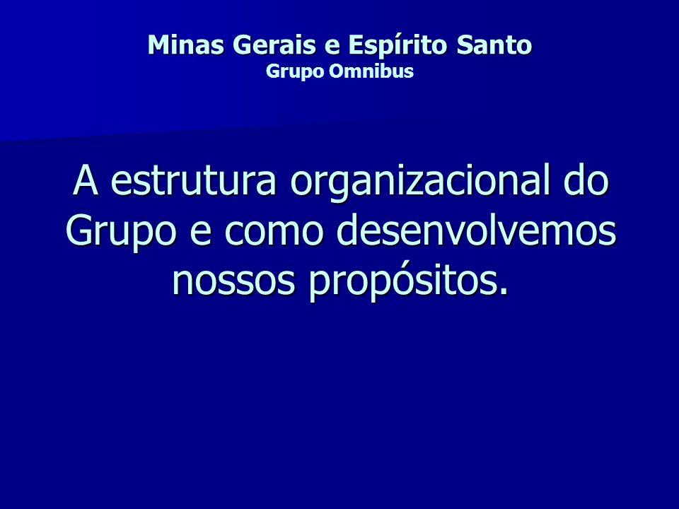 A estrutura organizacional do Grupo e como desenvolvemos nossos propósitos. Minas Gerais e Espírito Santo Minas Gerais e Espírito Santo Grupo Omnibus