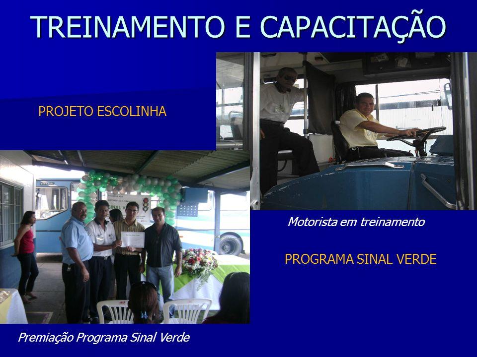 PROGRAMA SINAL VERDE TREINAMENTO E CAPACITAÇÃO PROJETO ESCOLINHA Motorista em treinamento Premiação Programa Sinal Verde