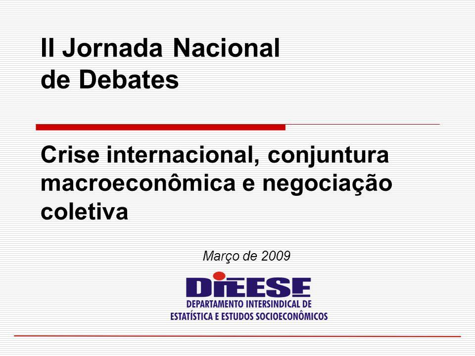 Março de 2009 II Jornada Nacional de Debates Crise internacional, conjuntura macroeconômica e negociação coletiva