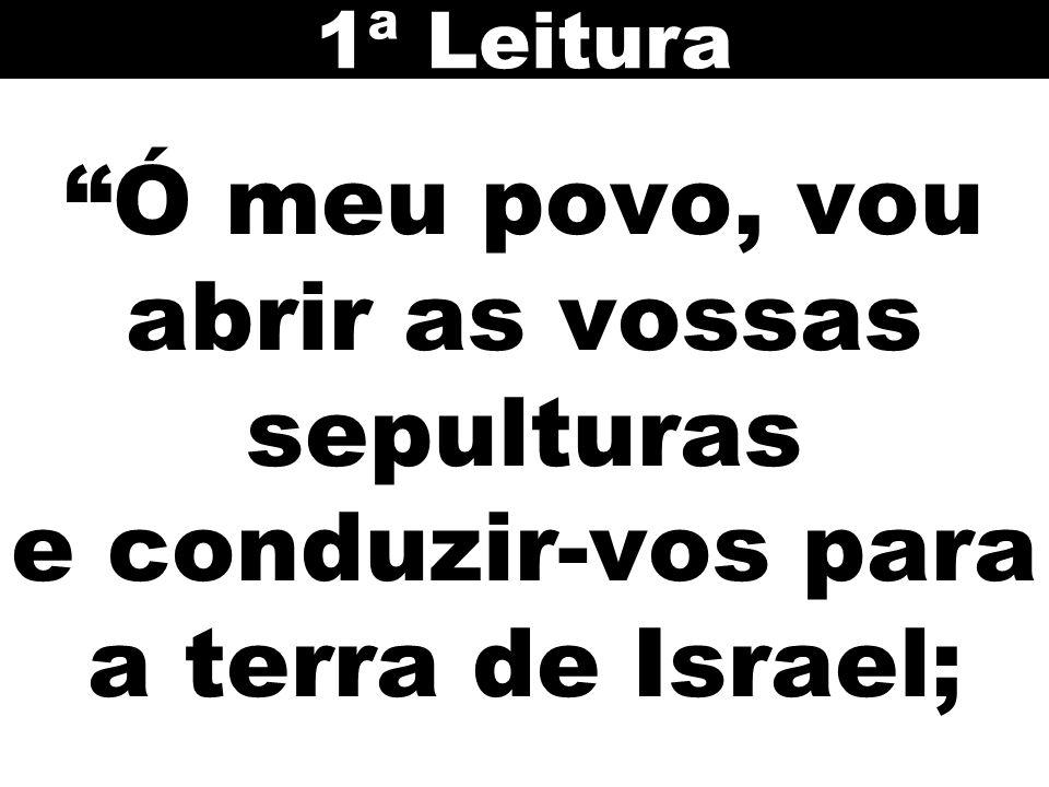 Ó meu povo, vou abrir as vossas sepulturas e conduzir-vos para a terra de Israel; 1ª Leitura