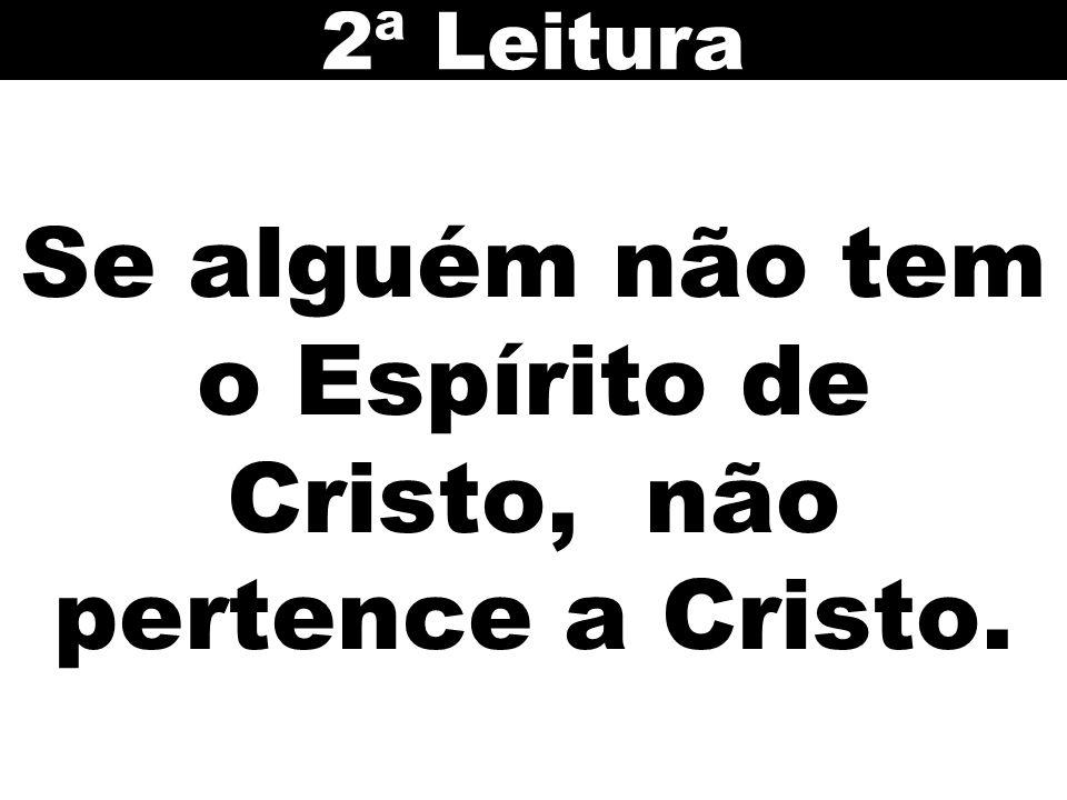 Se alguém não tem o Espírito de Cristo, não pertence a Cristo. 2ª Leitura