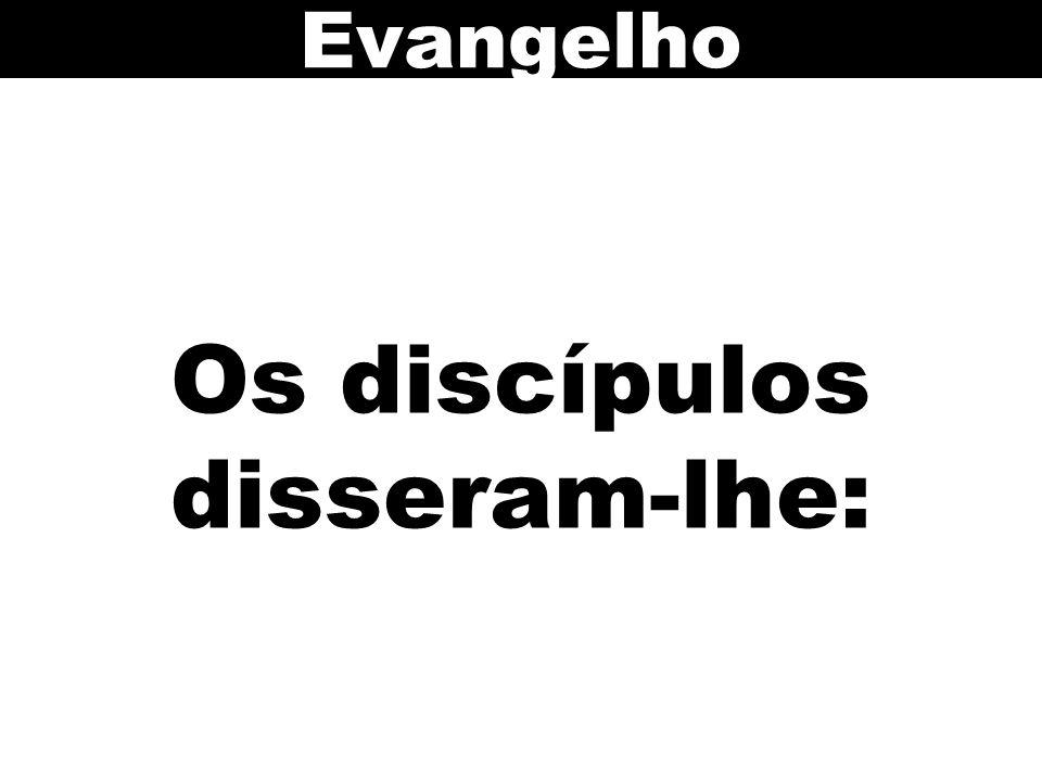 Os discípulos disseram-lhe: Evangelho
