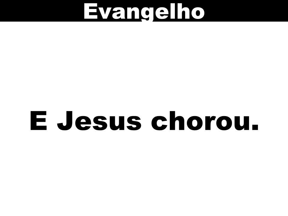 E Jesus chorou. Evangelho