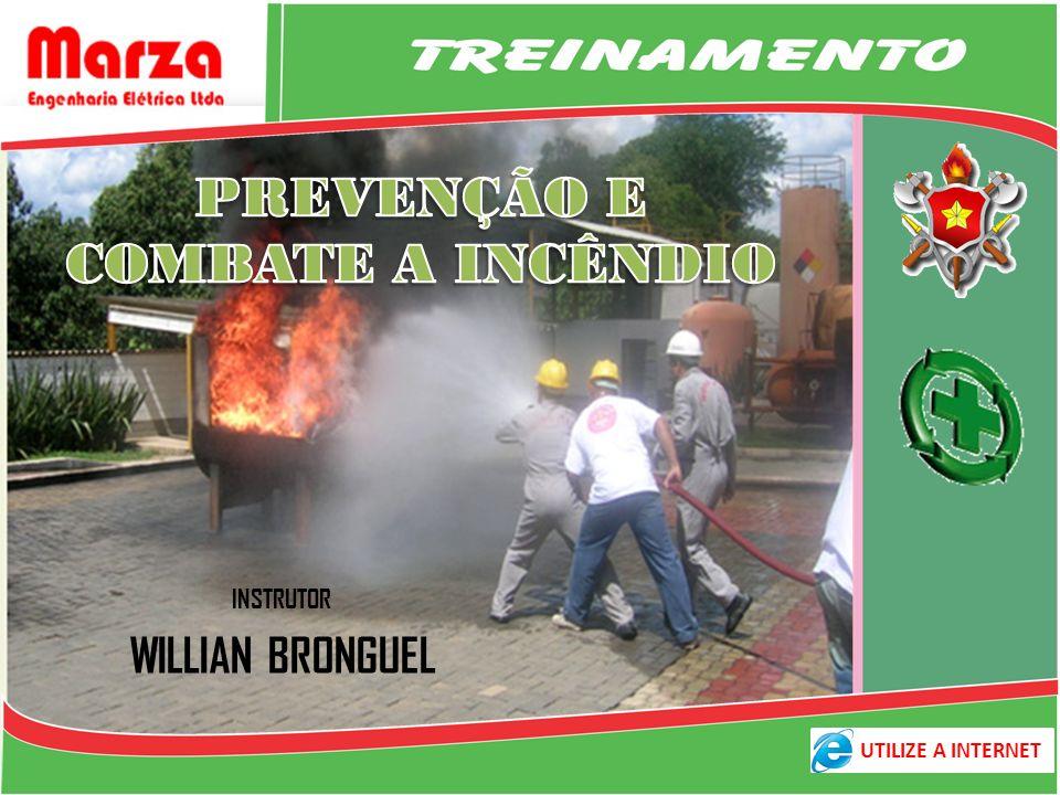 INSTRUTOR Willian Bronguel Técnico em Segurança do Trabalho DEMONSTRAÇÃO LÓGICA DO FOGO PREVENÇÃO E COMBATE A INCÊNDIOS