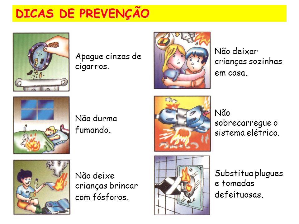 DICAS DE PREVENÇÃO Apague cinzas de cigarros.Não durma fumando.