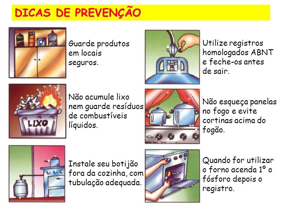 Guarde produtos em locais seguros.Não acumule lixo nem guarde resíduos de combustíveis líquidos.