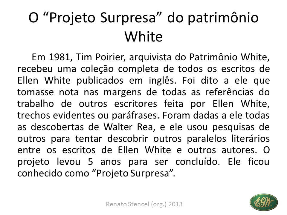 O Projeto Surpresa do patrimônio White Em 1981, Tim Poirier, arquivista do Patrimônio White, recebeu uma coleção completa de todos os escritos de Elle