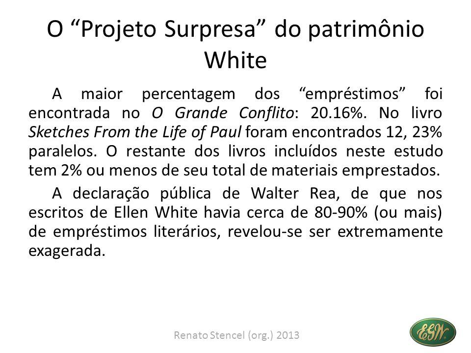 O Projeto Surpresa do patrimônio White A maior percentagem dos empréstimos foi encontrada no O Grande Conflito: 20.16%. No livro Sketches From the Lif