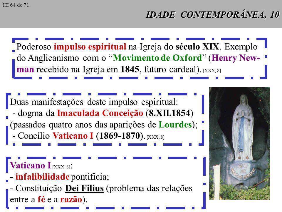 IDADE CONTEMPORÂNEA, 10 Poderoso impulso espiritual na Igreja do século XIX. Exemplo do Anglicanismo com o Movimento de Oxford (Henry New- man recebid