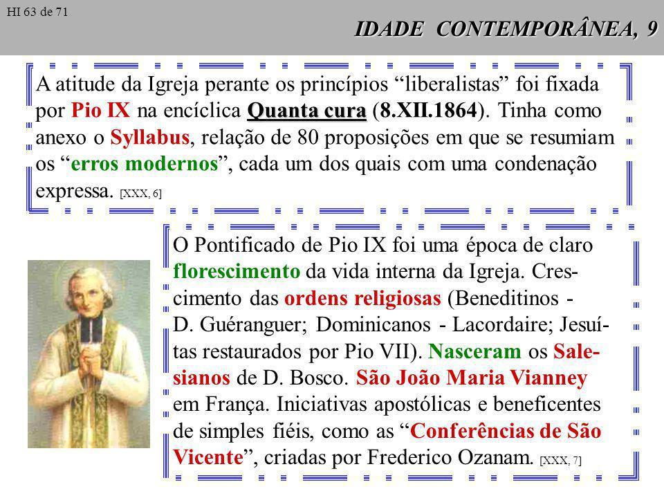 IDADE CONTEMPORÂNEA, 10 Poderoso impulso espiritual na Igreja do século XIX.