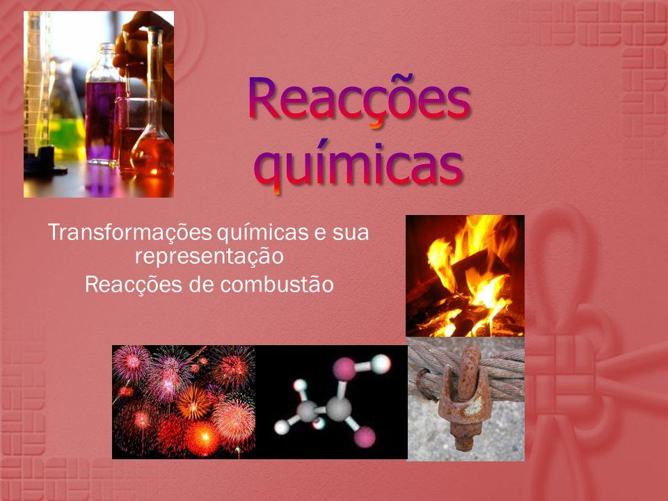 Reacções químicas Reacções de combustão – Ciências Físico-Químicas 8.º ano Não se forma chama.