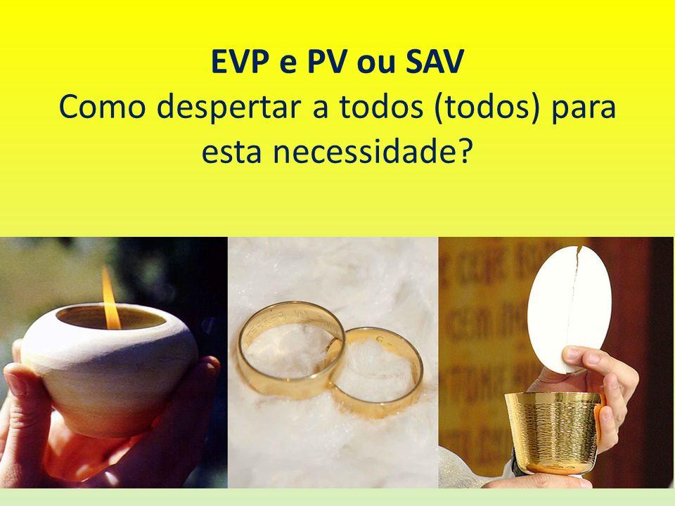 EVP e PV ou SAV Como despertar a todos (todos) para esta necessidade?