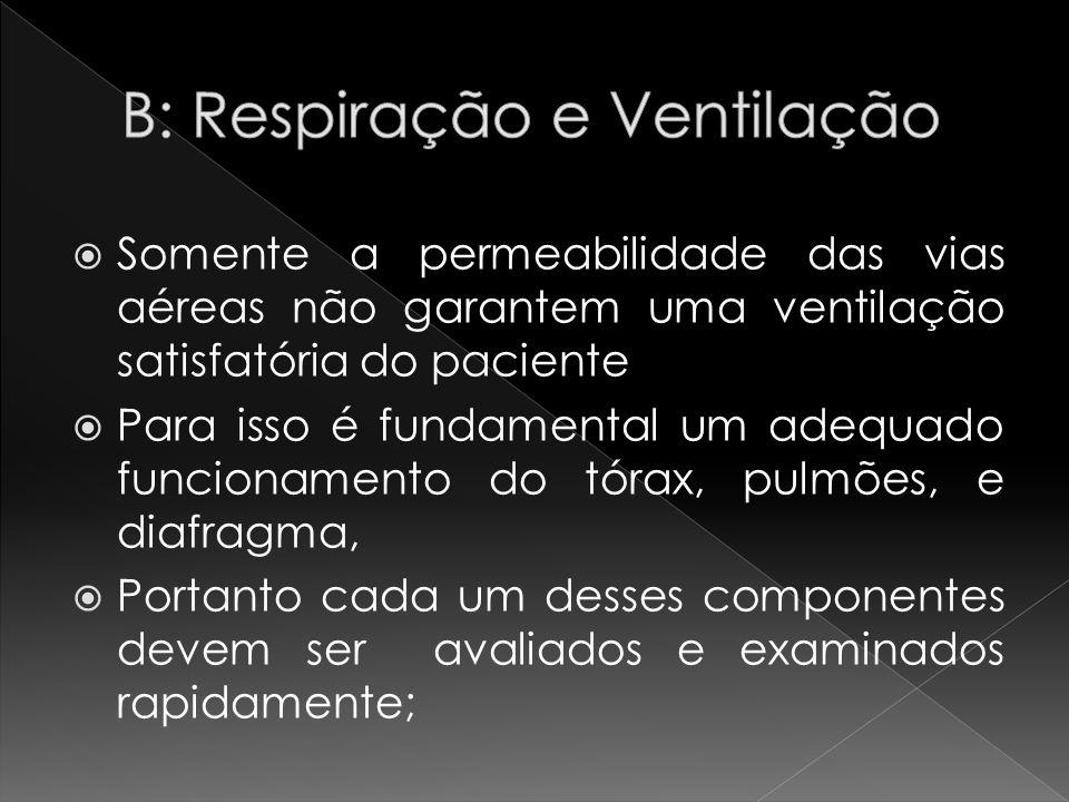 Somente a permeabilidade das vias aéreas não garantem uma ventilação satisfatória do paciente Para isso é fundamental um adequado funcionamento do tór