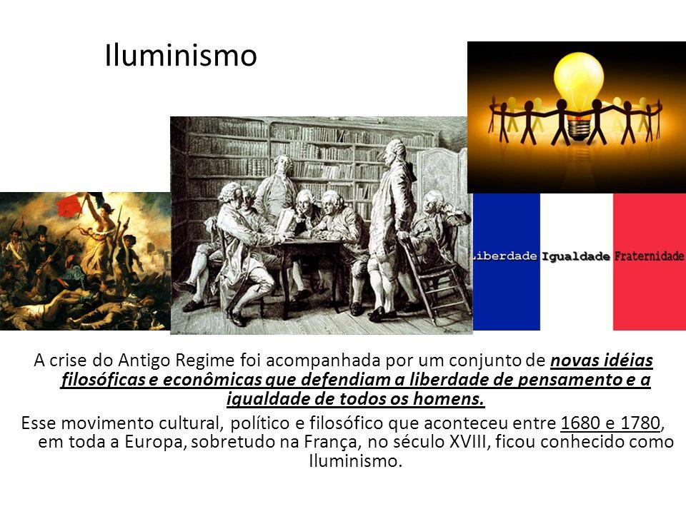 Iluminismo A crise do Antigo Regime foi acompanhada por um conjunto de novas idéias filosóficas e econômicas que defendiam a liberdade de pensamento e