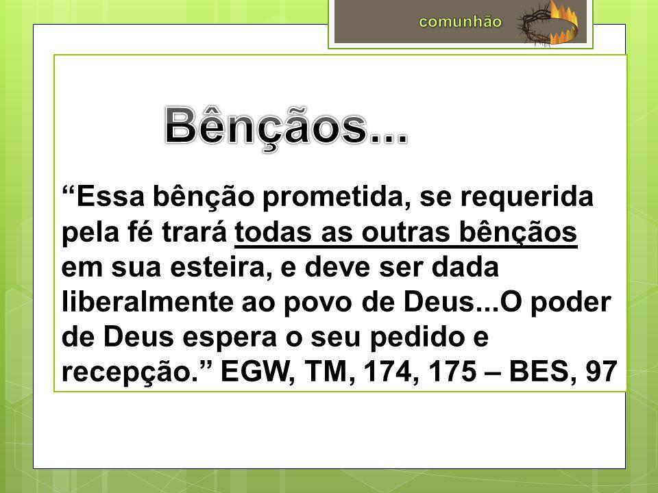 Resultados...O tempo dedicado ao estudo da Palavra de Deus e à oração trará lucro centuplicado.