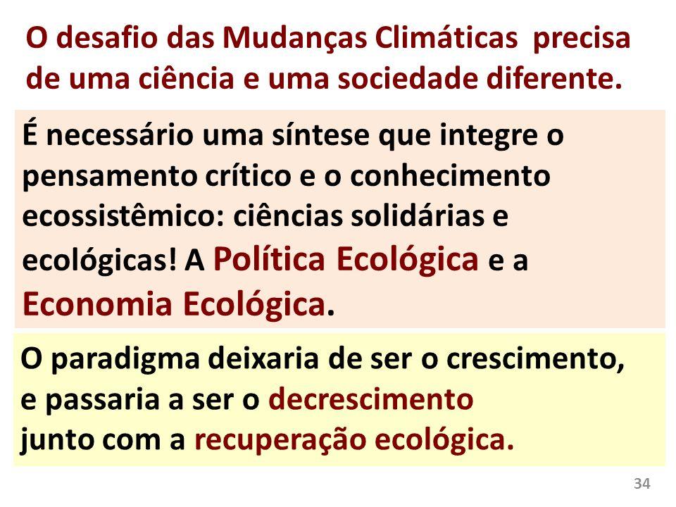O desafio das Mudanças Climáticas precisa de uma ciência e uma sociedade diferente. É necessário uma síntese que integre o pensamento crítico e o conh