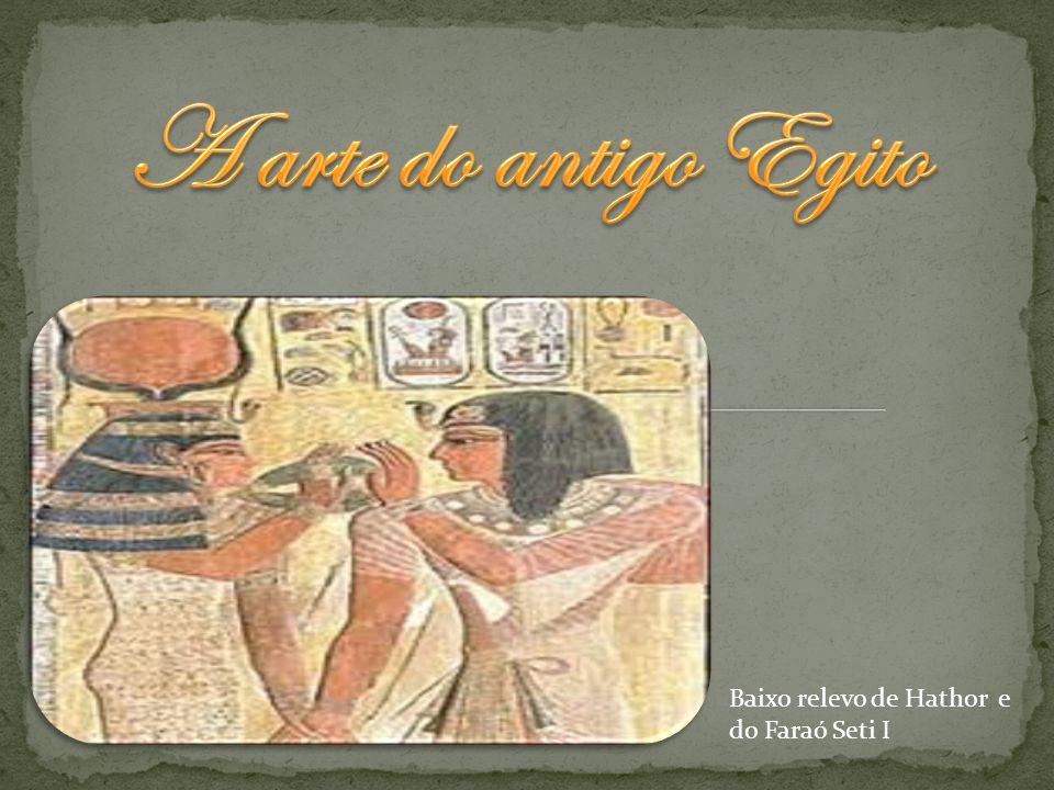 Baixo relevo de Hathor e do Faraó Seti I