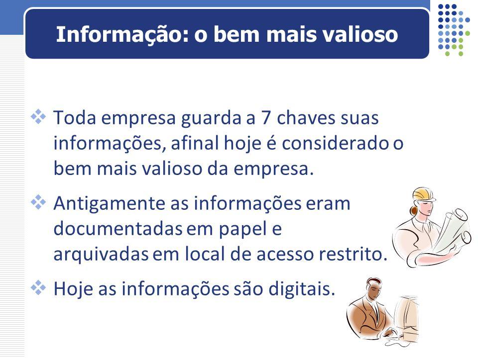 Para gerar informação, é preciso que os dados sejam íntegros, confiáveis e estejam disponíveis.
