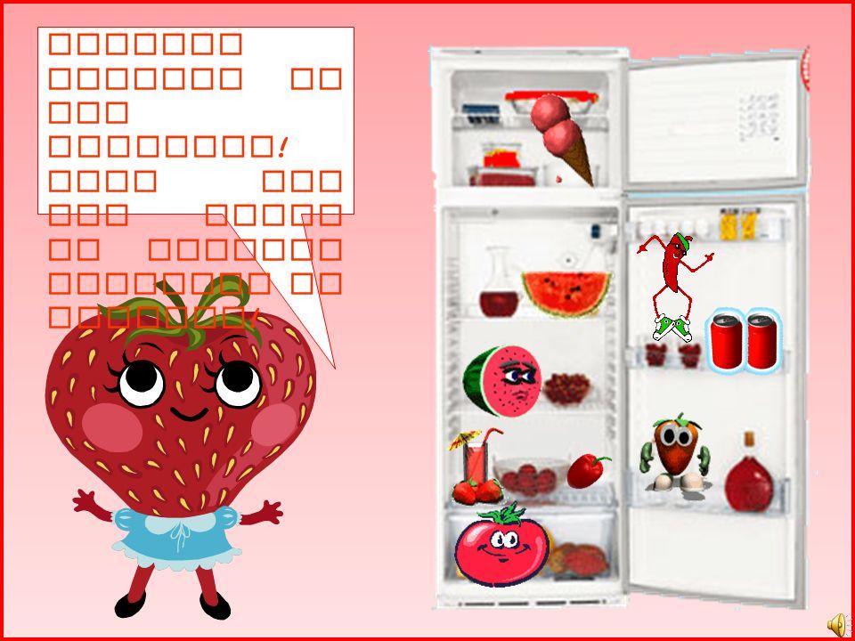 Dona Moranga est á com fome e vai até a geladeira vermelha escolher uma comida bem gostosa. O que ser á que ela vai querer comer?