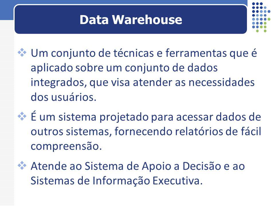 Um conjunto de técnicas e ferramentas que é aplicado sobre um conjunto de dados integrados, que visa atender as necessidades dos usuários. É um sistem