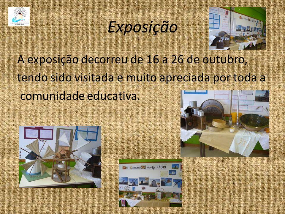 Exposição A exposição decorreu de 16 a 26 de outubro, tendo sido visitada e muito apreciada por toda a comunidade educativa.