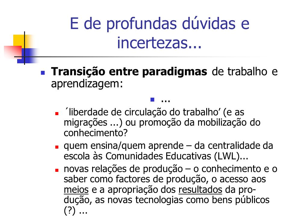 O que leva a questionar a eficácia da Escola... (OECD 2003, Learners for Life...PISA)