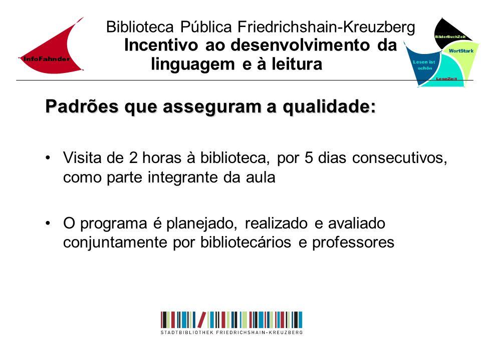 Biblioteca Pública Friedrichshain-Kreuzberg Incentivo ao desenvolvimento da linguagem e à leitura Padrões que asseguram a qualidade: Visita de 2 horas